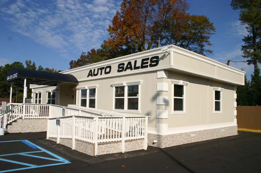 Auto Sales Center in modular building