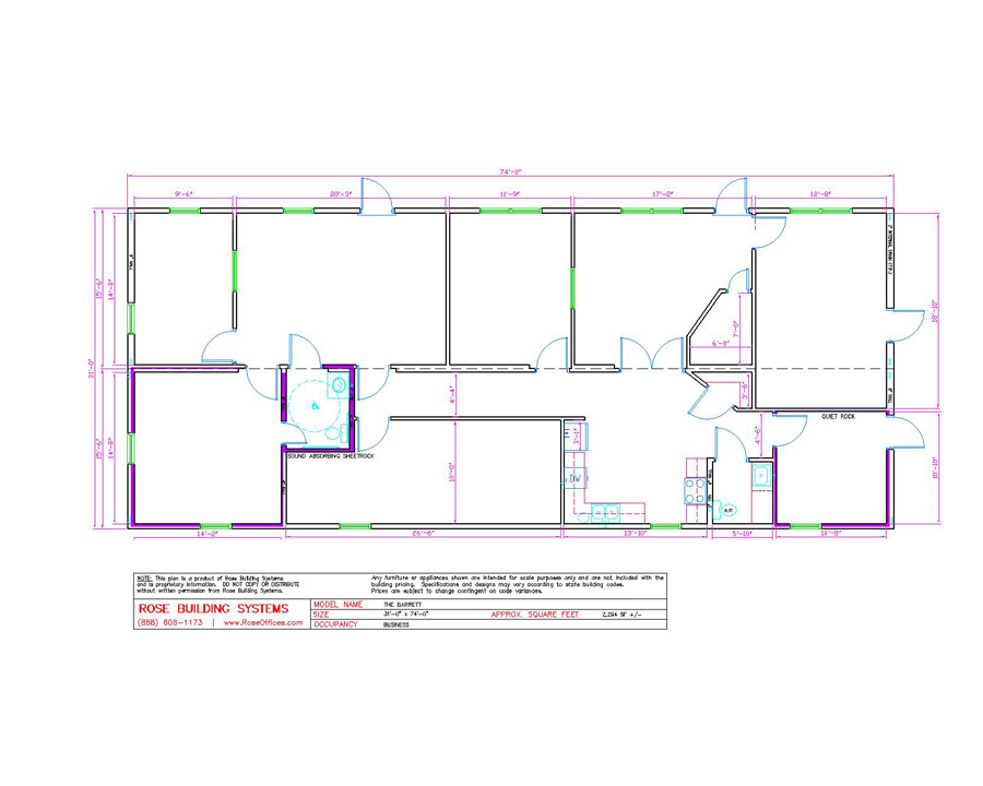 Large Modular office building floorplans