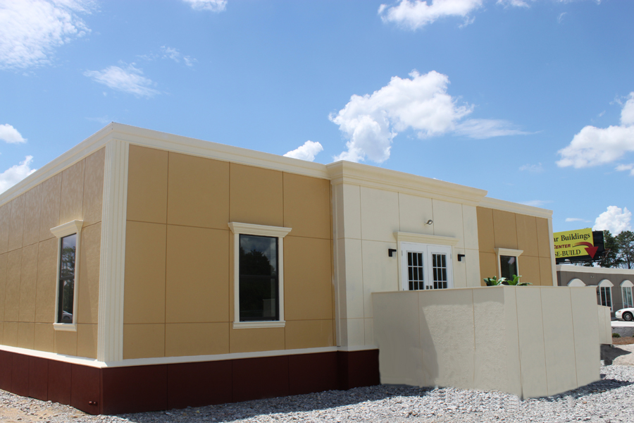 Customized Modular Office Building with staggered front