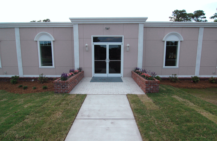 Ground Level Entrance into Modular Building