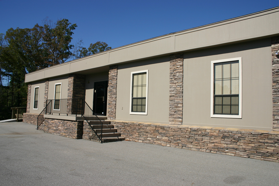 Modular Church Building with Recessed Entry