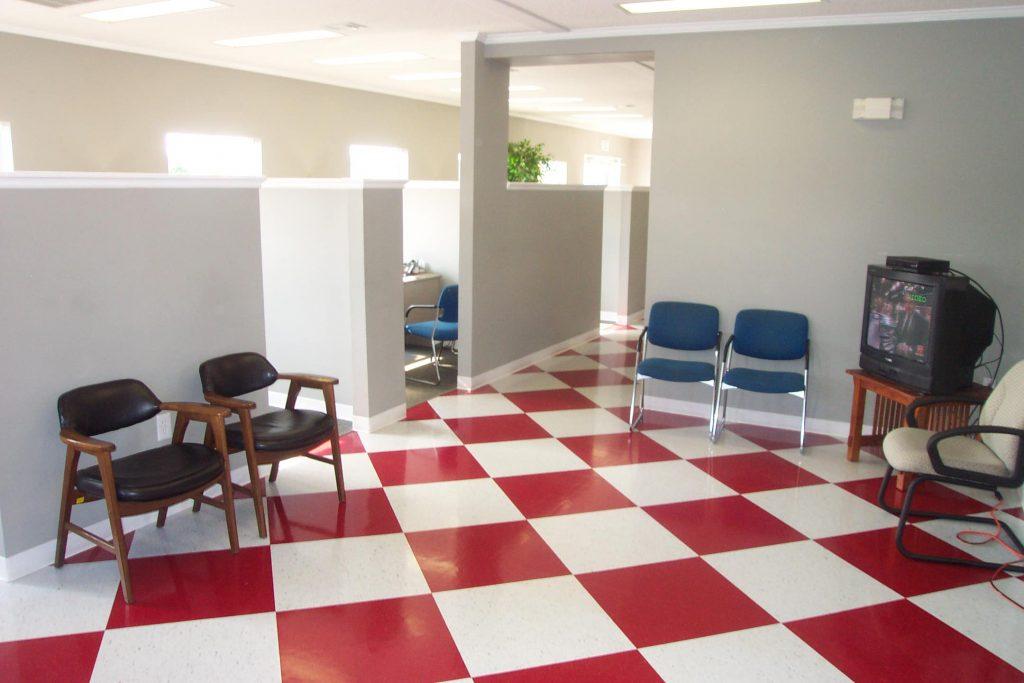 Modular Office with custom tile