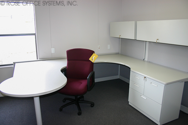 Office furniture in modular building