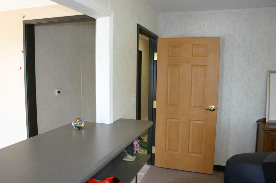 Receptionist Window with built-in countertop