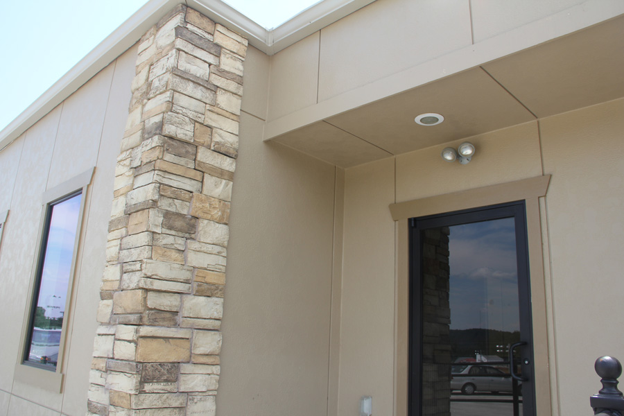 Recessed Entrance over front door with lighting