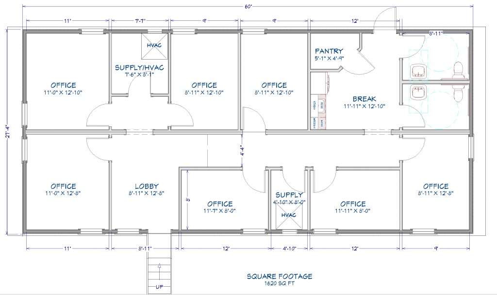 THE BANKSTON 28X60 MODULAR FLOORPLAN