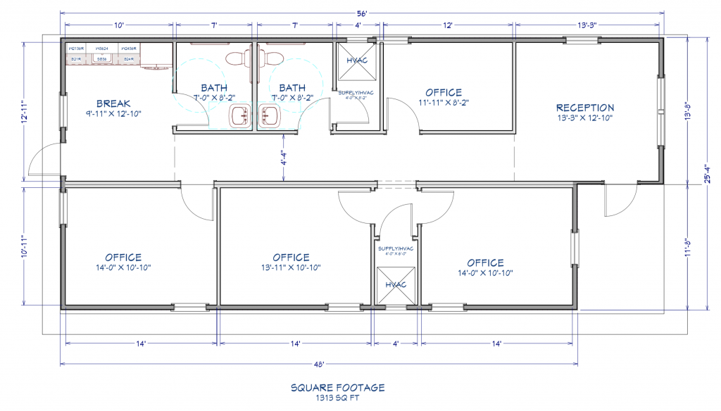 BENTLEY MODULAR SALES OFFICE FLOORPLAN