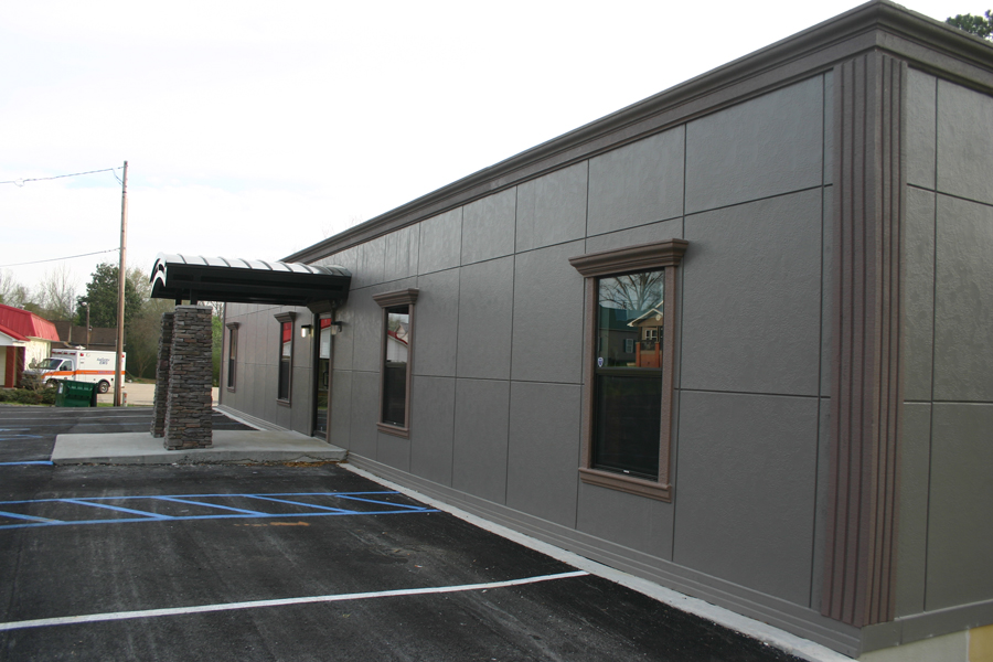 Whatley Health Clinic Modular Building with Front Awning