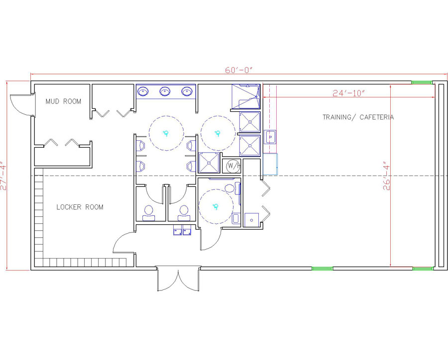 Modular Building Floorplan by Rose Office Systems